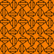 orange rotating shields