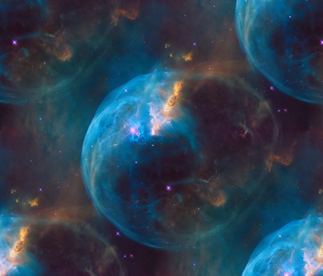 Bubble nebula fabric pamelachi spoonflower for Nebula material