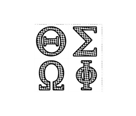 Custom Greek Letters 3 fabric fabric rocks Spoonflower