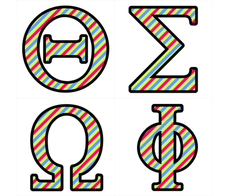 Custom Greek Letters 4 fabric fabric rocks Spoonflower