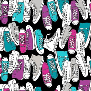All-Stars* (Custom) || sneakers tennis shoes fashion sports geek chic punk emo