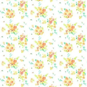 floral orange mini