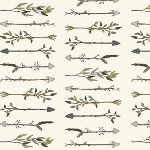 Twiggy Arrows - Ivory