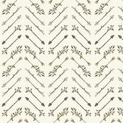 Twiggy Arrows Herringbone - Ivory