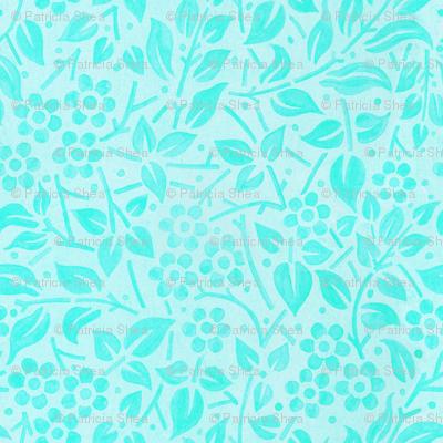 Aqua Filigree Floral
