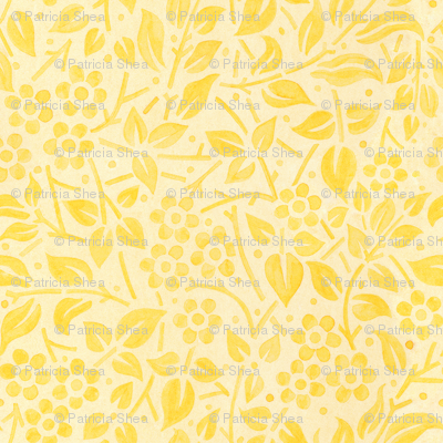 Yellow Filigree Floral