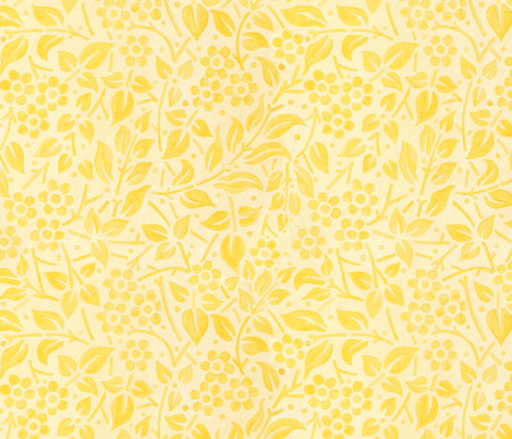 Yellow Filigree Floral fabric by patriciasheadesigns on Spoonflower - custom fabric
