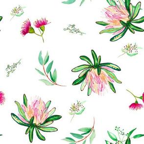 """12"""" Island Flower / WHITE"""