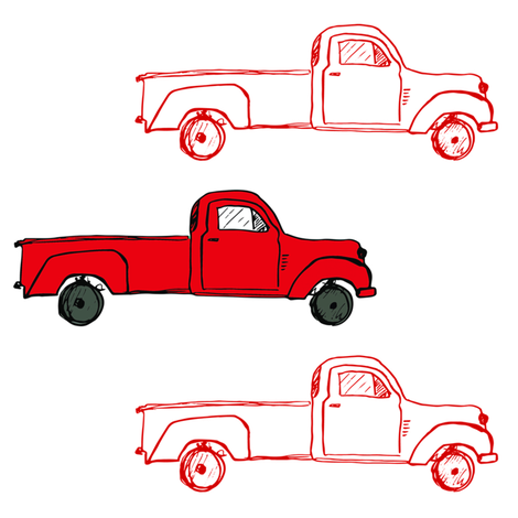 """8"""" Vintage Red Trucks fabric by shopcabin on Spoonflower - custom fabric"""