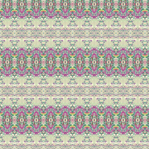 pink, grey and sage stripe