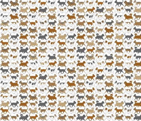 Trotting Chihuahua border A - small fabric by rusticcorgi on Spoonflower - custom fabric