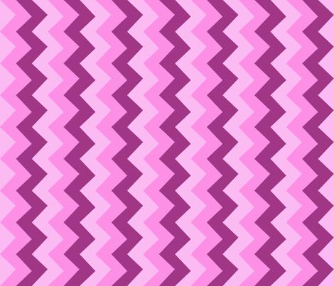 Collared portrait vertical chevron coordinate - pink fabric by rusticcorgi on Spoonflower - custom fabric