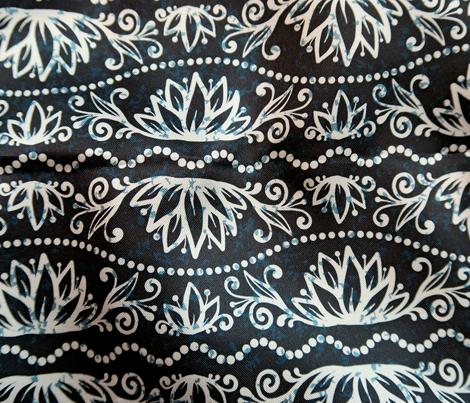 Tribal floral pattern