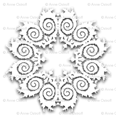 Fractal Doily Cutouts