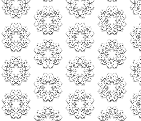 Fractal Doily Cutouts fabric by anneostroff on Spoonflower - custom fabric