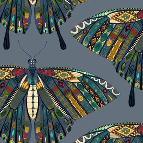 swallowtail butterfly indigo