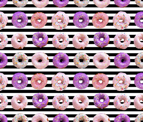 sprinkle donuts pink and purple fabric by infiknit_fabrics on Spoonflower - custom fabric