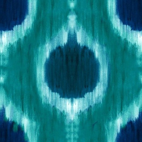 cestlaviv_pomR_ikat_peacock_18x18
