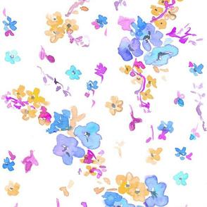 floral vintage periwinkle large