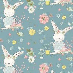"""4"""" Garden Bunny / Blue"""