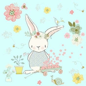 "7"" Garden Bunny / Light Aqua"