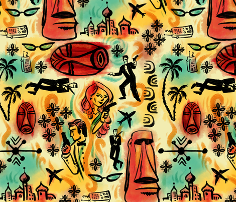The Spy Who Loved Me fabric by woodyworld on Spoonflower - custom fabric