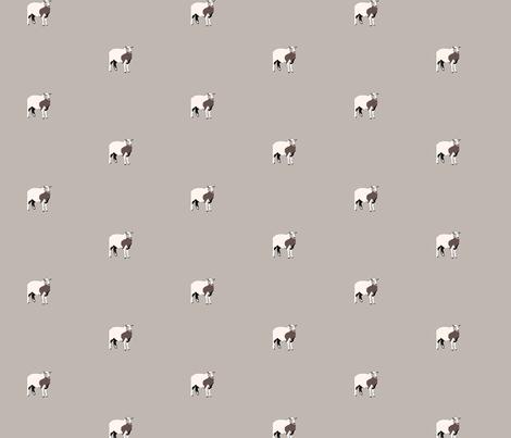 Single_SheepBrownBkgr fabric by wbbeardie on Spoonflower - custom fabric