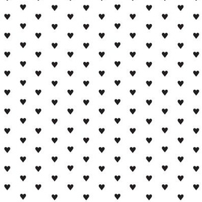 Fer Shurr* (Black on White) || heart love valentine valentines day 80s retro pastel