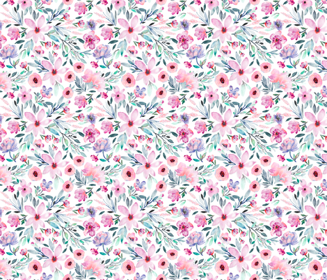 Indy Bloom Design MAE Purple B fabric by indybloomdesign on Spoonflower - custom fabric