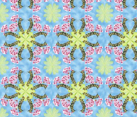 catapiller08_blue fabric by a_packard on Spoonflower - custom fabric