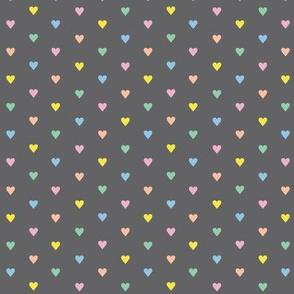 Fer Shurr* (Rainbow Pastel on Pepper Pot) || heart love valentine valentines day 80s retro preppy