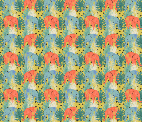 Follow the Leader  fabric by allierunnion on Spoonflower - custom fabric