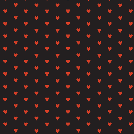 Fer Shurr* (Red & Black) || heart love valentine valentines day 80s retro punk emo  fabric by pennycandy on Spoonflower - custom fabric