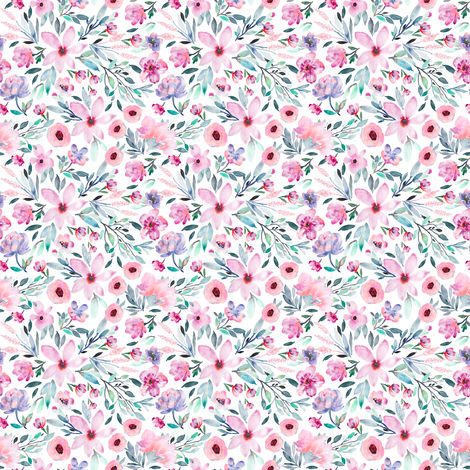 Indy Bloom Design MAE Purple A fabric by indybloomdesign on Spoonflower - custom fabric