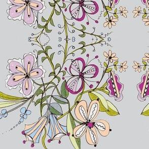 Spring Bouquet Stripe/grey