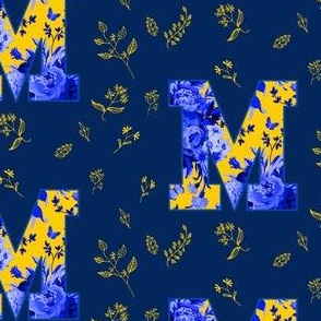 M is for Michigan / Blue & Yellow / School Spirit