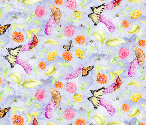 WatercolorInsects fabric by blairfully_made on Spoonflower - custom fabric