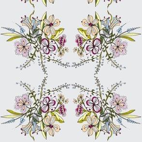 Spring Bouquet/grey