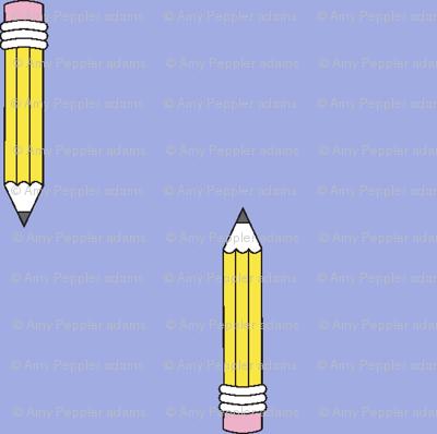 Dweeb* (Ultraviolet) || pencil nerd geek chic geeky math science art eraser school supplies teacher student