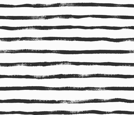 Thin Stripe soft black fabric by crystal_walen on Spoonflower - custom fabric