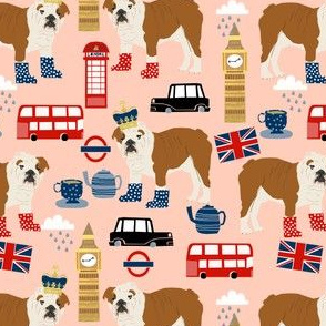 english bulldog fabric london uk bulldogs fabric - blush