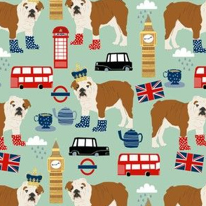 english bulldog fabric london uk bulldogs fabric - mint