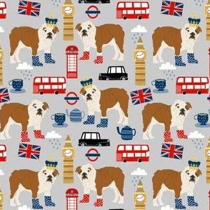 english bulldog fabric london uk bulldogs fabric - grey