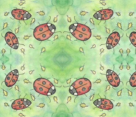 ladybugs-ed-ed fabric by pookeek on Spoonflower - custom fabric
