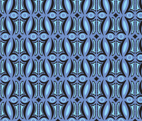 Sepik_shapes fabric by malolo on Spoonflower - custom fabric