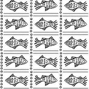 Fish Etch - black on white sm