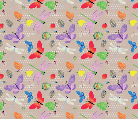 InsectWatercolourMain fabric by et_al on Spoonflower - custom fabric
