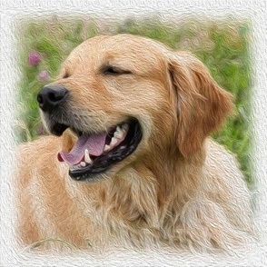 golden retriever - painted
