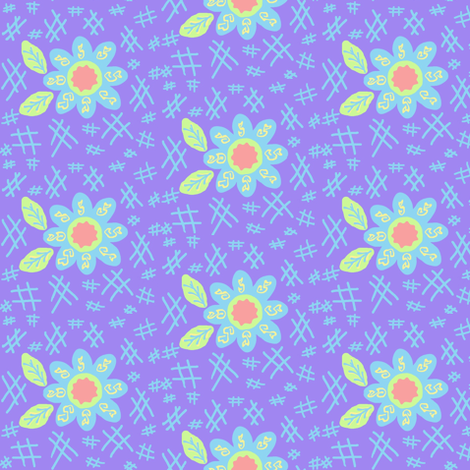 Summer Days  #SAGE SUMMER  fabric by franbail on Spoonflower - custom fabric