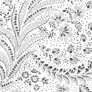 Pat100v1-delicate-painted-chintz-fern-leaves